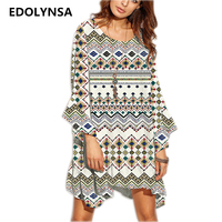 2017 Brand New Arrival Summer Dress Boho Oversize Beach Dresses Printed Robe Elegant Maxi Dress Plus