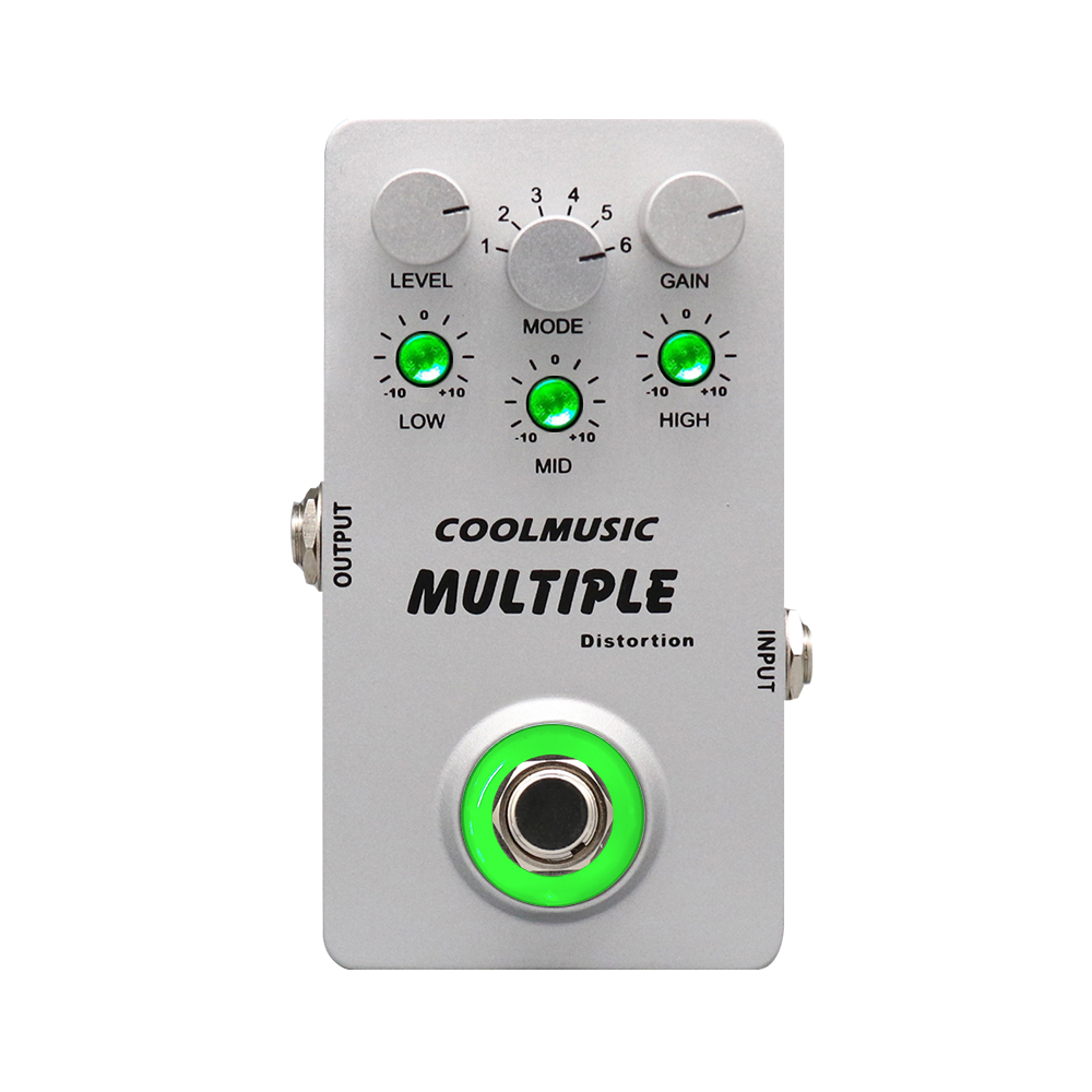 Coolmusic A-MT6 Digital Distortion Guitar Pedal with 6 Distortion Effects Pedal