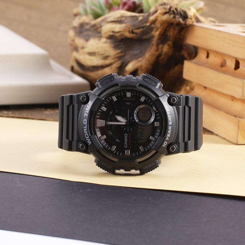 Casio Часы спортивные серии Смарт двойной дисплей многофункциональные электронные мужские часы AEQ 110W 1A - 3