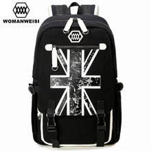 Famous Brand British Style Black Canvas Men's Bagpack Laptop Backpack For Teenager Fashion Anime Schoolbag Mochila School Bags