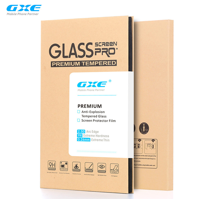 GXE Premium Tempered Glass Film For Samsung Galaxy C9 Pro C9000 LCD Screen Protector Protective Guard With Retail Package
