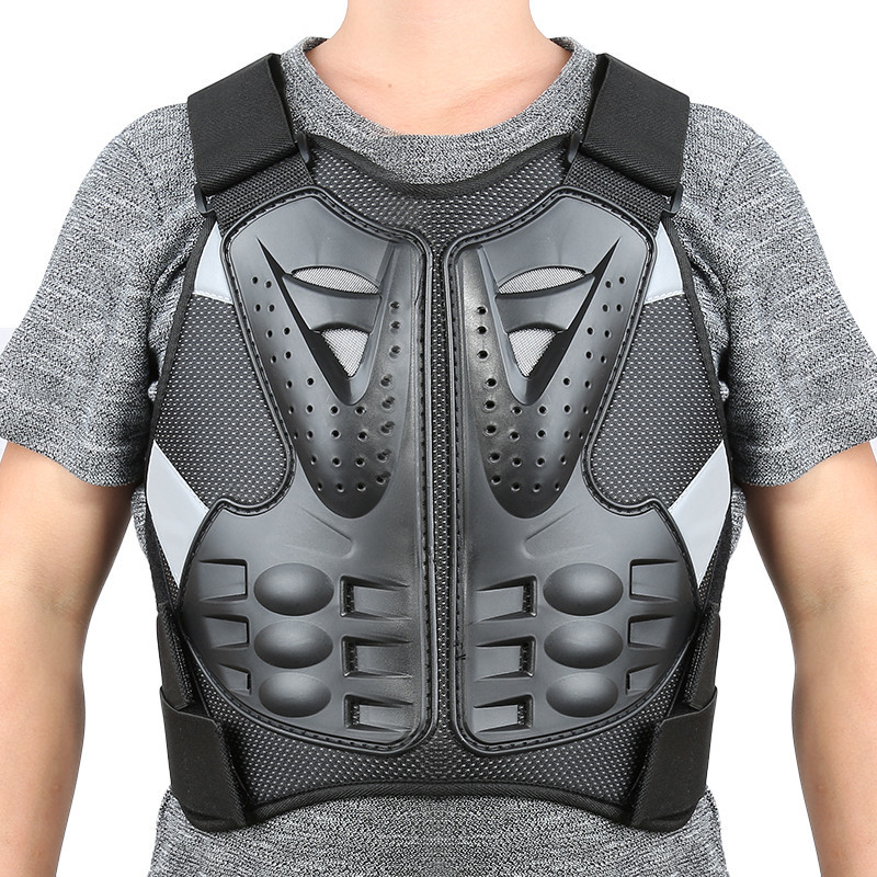 Motorcycle Vest Racing Motorcross Motorcycle Body Armor Back Spine Protective Gear Jacket Chest Gear Protective Men XXL