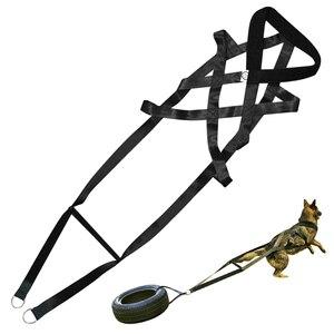 Image 1 - Poids de chien tirant le harnais fort en Nylon animaux de compagnie harnais pour berger allemand K9 grands chiens agilité produit produits de formation de chien