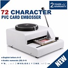 Georgeous 72 Character Membership card Embosser Machine for PVC Gift Card Credit ID VIP Manual Card Embosser