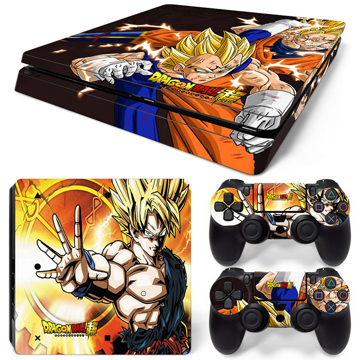 Dragon Ball Vinyl Games Skin Sticker For Play Station 4 PS4 Slim Console Controllers Stickers PS 4 S Accessories