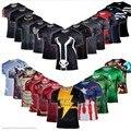 Super Heróis Vingadores Capitão América Batman t-shirt dos homens de compressão Armour função do corpo roupa interior Funcional Ver Camisa