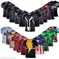 Super Heroes Avengers Captain America Batman t-shirt men's compression Armour body function underwear Functional Ver Shirt