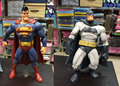 """Superman dos desenhos animados Batman figura de ação 7 """" estátua Batman Black & White loucos brinquedos modelo ABS anime brinquedos coleção figuras"""