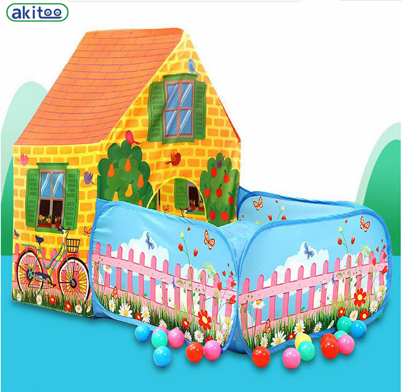 New arrival akitoo super big Children Tent Indoor Game House Princess Baby Toy House Big House