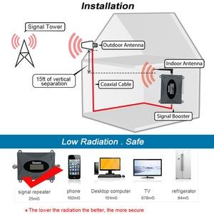 Image 2 - Lintatek 3G WCDMA UMTS 2100mhz repetidor de señal celular 65dB banda de ganancia 1 amplificador mejora 3G Internet MINI amplificador de tamaño #4