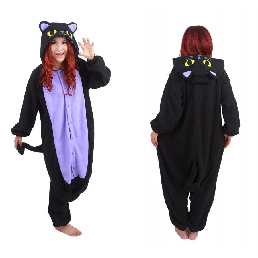 Livraison Gratuite Hot Nouveau Animal Adulte Onesie Le Minuit Chat Onesie Costume de Cosplay Pyjamas À Vendre en Stock