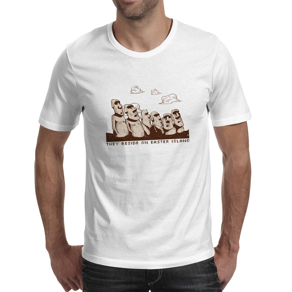 Design t shirt price - They Reside On Easter Island T Shirt Statue Mystery Novelty Design Cool T Shirt Casual