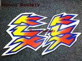 Envío libre pegatinas moto para kawasaki klx250 klx motor todoterreno sólo una venta par