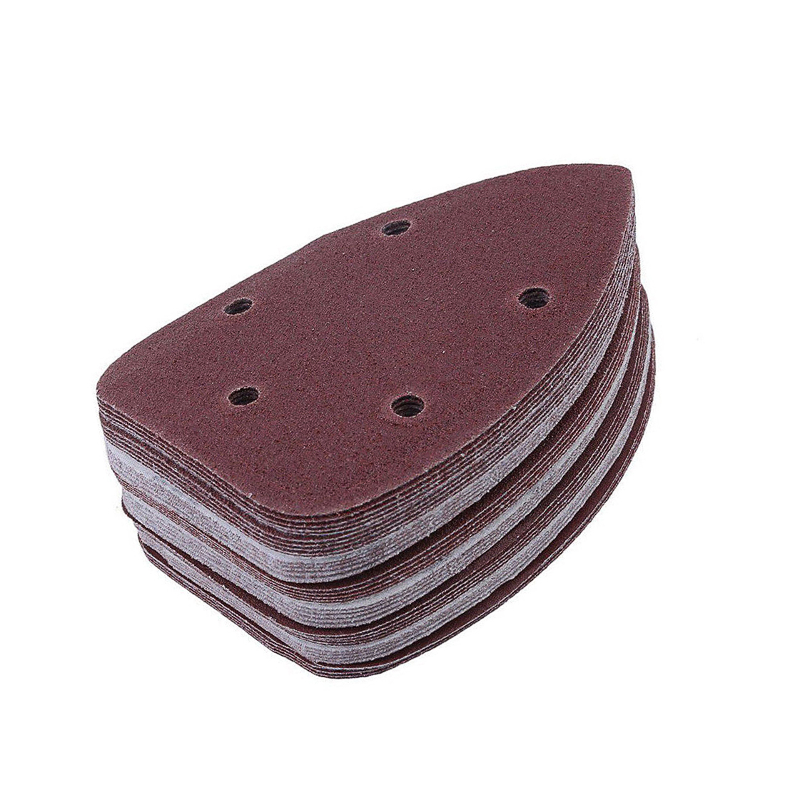 SHINA 50pcs Sandpaper 1000 Grit Triangle Sanding Disc Sheet Sand Paper Pad Set For Fein Oscillating