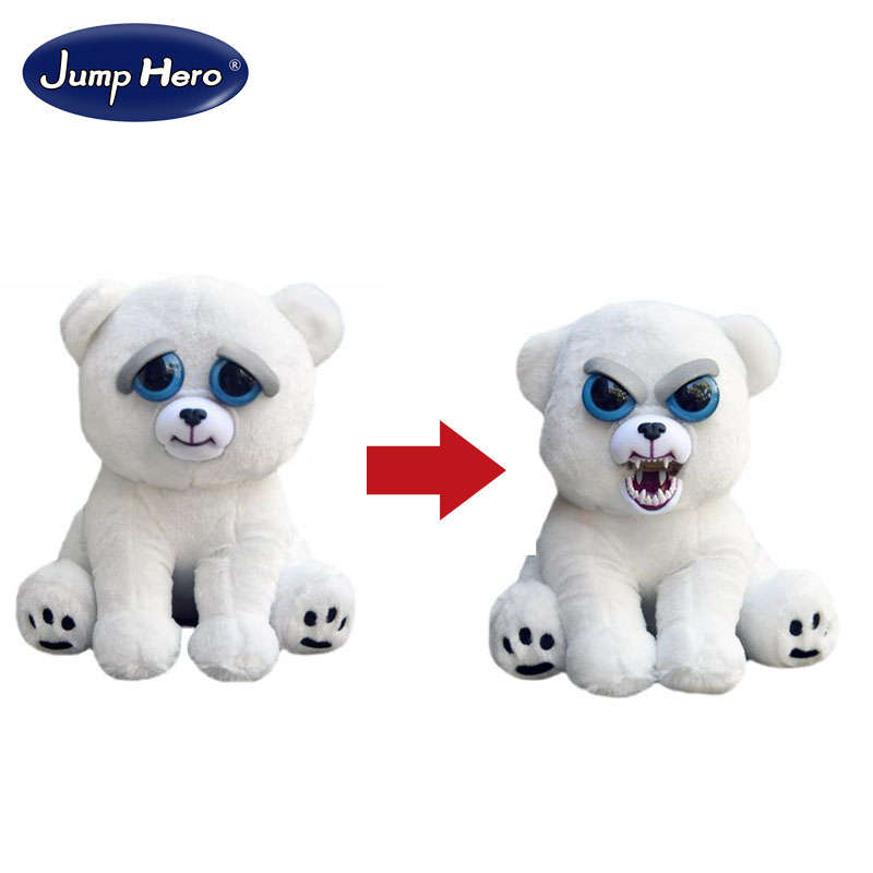 William Mark Change Face Feisty Pet Karl the Snarl Funny Expression Stuffed Animal Doll For Kids Cute Christmas Free Shipping gene expression at the beginning of animal development 12