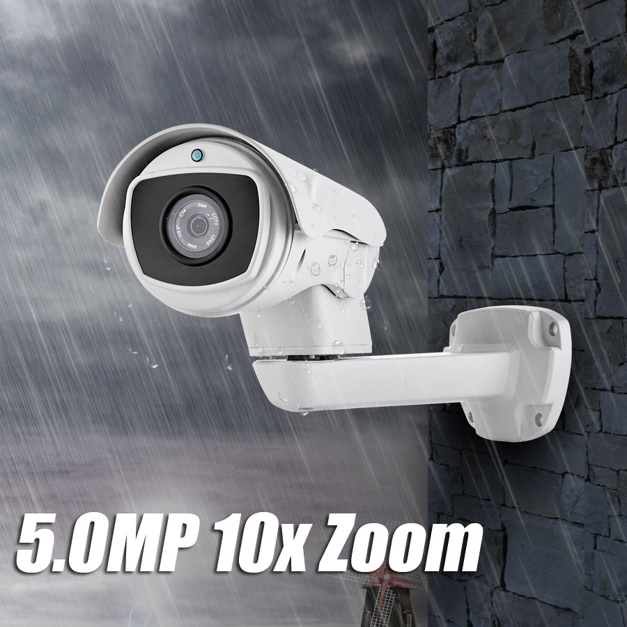 2.0MP/5.0MP WiFi IP Camera Outdoor PTZ 4.9-49mm ONVIF Waterproof H.264 HD CCTV Security Camera Wifi Night Vision