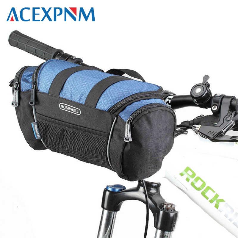 Bicycle Bike Handlebar Large Canvas Basket Front Waterproof Durable Rack Bag New