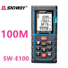 Free sihpping 100m LDM-X100 Laser distance meter bubble level Tape tool Rangefinder Rang finder measure Area/Volume M/Ft/Inch digital laser distance meter ldm 40 bigger bubble level tool rangefinder pi54 class for waterproof and dustproof