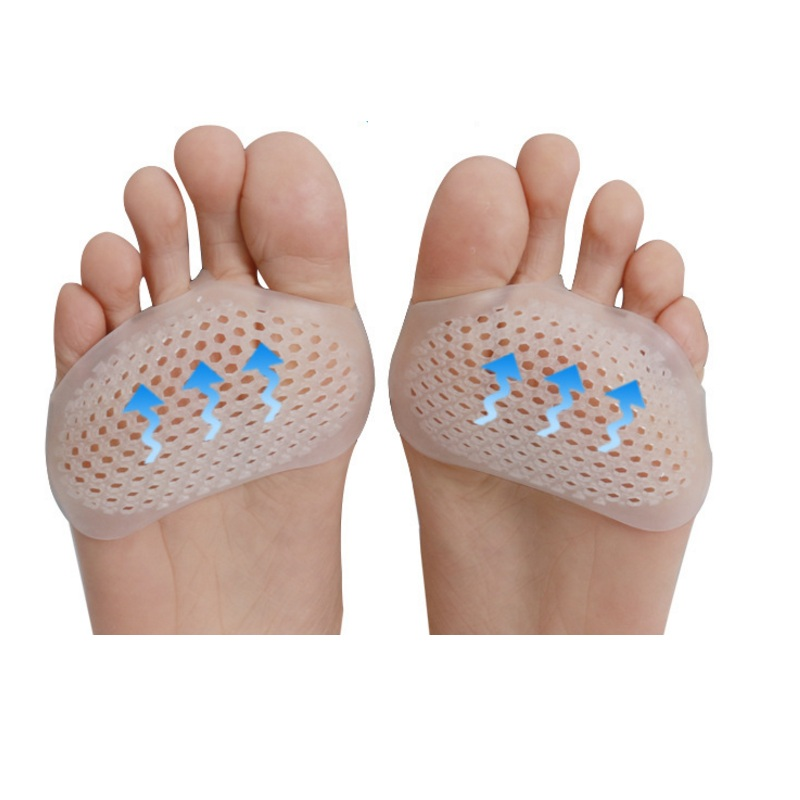 5pairs Silicone Honeycomb Half Yards Insole Remove Cocoon & Massage Forefoot Pad Breathable Anti-pain Foot Pad High Heel Insoles