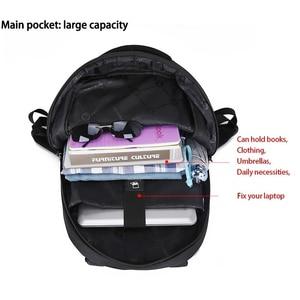 Image 2 - حقيبة ظهر بعلامة تجارية للرجال عالية الجودة 15.6 بوصة حقيبة ظهر للكمبيوتر المحمول للنساء حقيبة ظهر خفيفة من النايلون حقيبة مدرسية للفتيات والصبيان