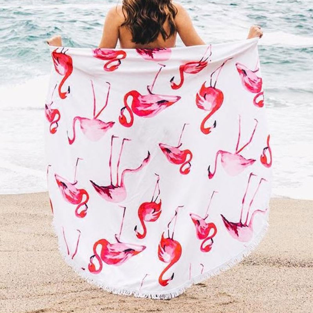 India Mandala Microfiber Toalla de playa redonda con borlas Boho ...