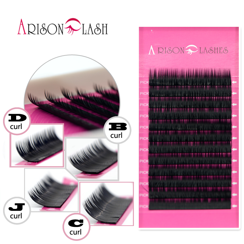 All Size 4-5Trays J B C D L Curl Eyelashes Extension Silk Eyelashes Individual Eyelash Fake False Eyelashes Free Shipping ...