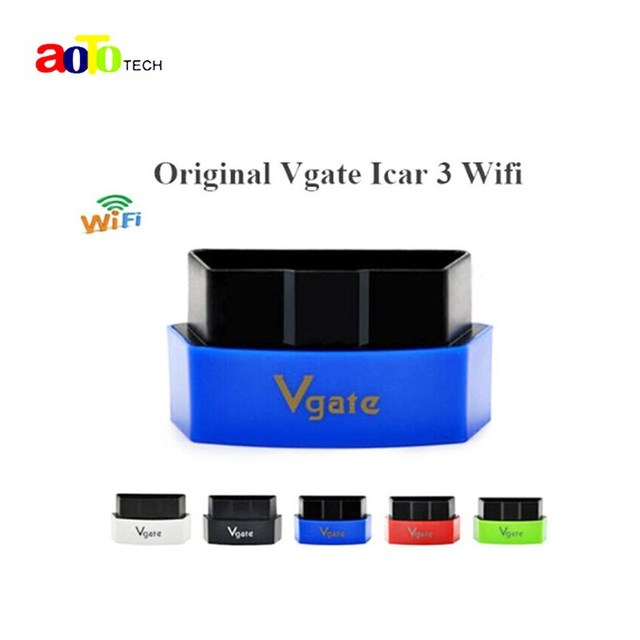 New Vgate iCar3 Wifi ELM327 OBD OBDII OBD2 Wi-fi ELM 327 Car Diagnostic interface Tool Support Android/ IOS/PC