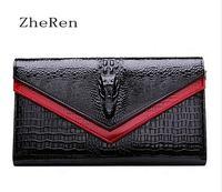 High Quality Fashion New Black Leather Handbag Ladies Fashion Crocodile MESSENGER SHOULDER HAND BAG FREE SHIPPING