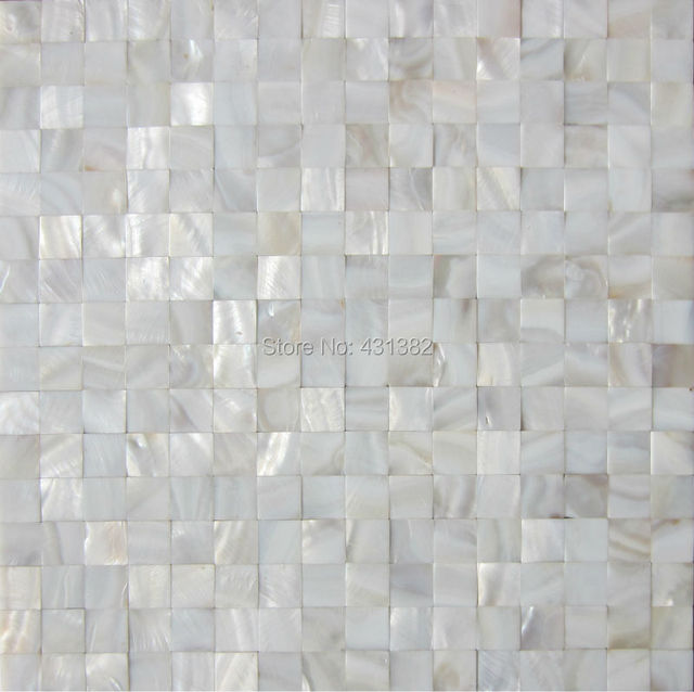 white luster mother of pearl tiles backsplash kitchen bathroom mirror tile decorative shell mosaics mother