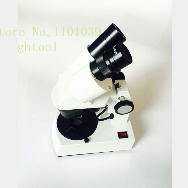 Jewelry Tools 10-30X Gem Microscope Diamond Microscope with Ultra bright LED light sourc ...