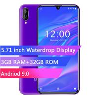 OUKITEL C16 PRO 5.71HD+ Waterdrop Screen 4G Smartphone MT6761P Quad Core 3GB 32GB Android 9.0 Pie Face ID Mobile Phone