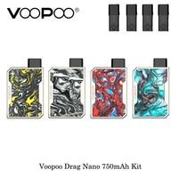 electronic cigarette Voopoo Drag Nano 750mAh All In One Vape Starter Kit Compact Pod Vaping Device VS Justfog Minifit Vaporizer