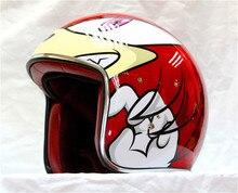 Iron Man sonic Classic personality fashion retro tide motorcycle motorcycle helmet helmet cartoon run half red