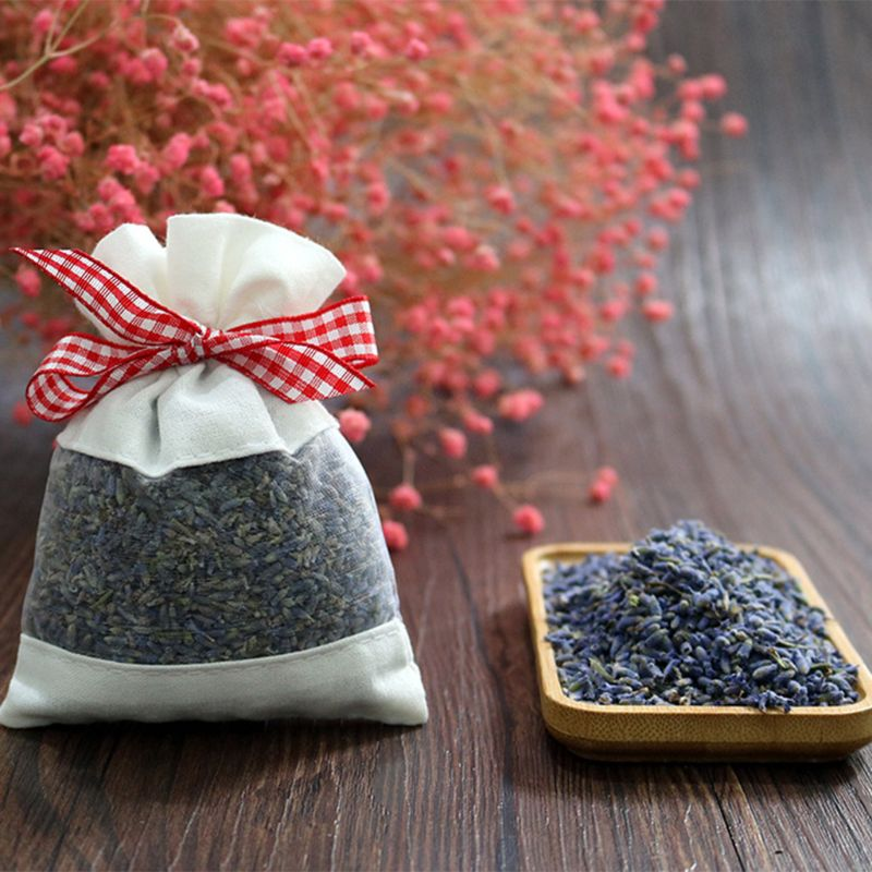 1 Bag Real Lavender Organic Dried Flowers Sachets Buds Bag Fragrance Air Fresher Car Home Fragrance Sachets