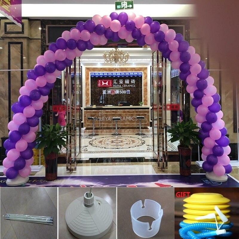 unidades globos arco base de la columna de agua conectores hebillas eventos decorativo artesana gadgets