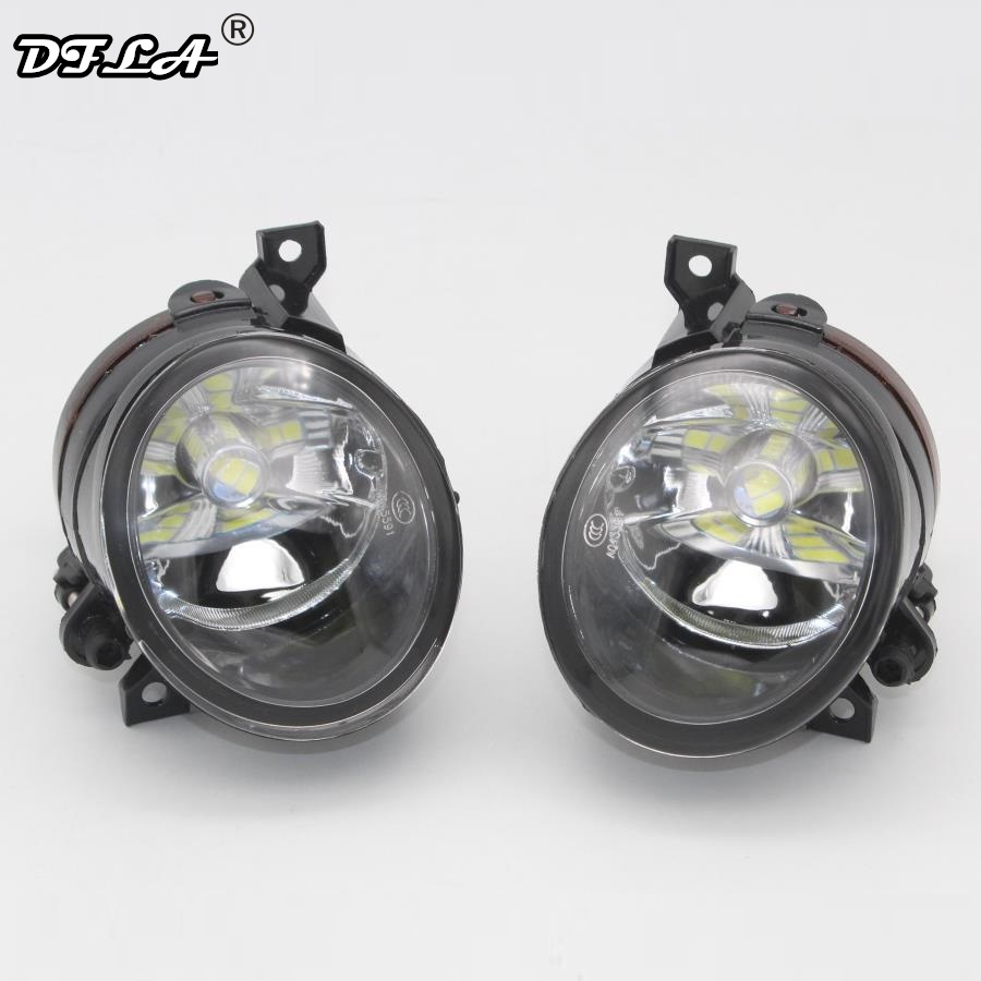2pcs Car LED Light For VW Amarok 2009 2010 2011 2012 2013 2014 2015 2016 Car-styling Front Bumper LED Fog Lamp Fog Light front bumper led fog lamp daytime running light replacement assembly 2p for lexus lx lx570 2008 2009 2010 2011