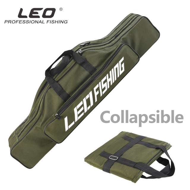 Special Price Double-layer Fishing Rod Bag Fishing Bags Reel Tackle Carrier 80cm Portable Storage Case