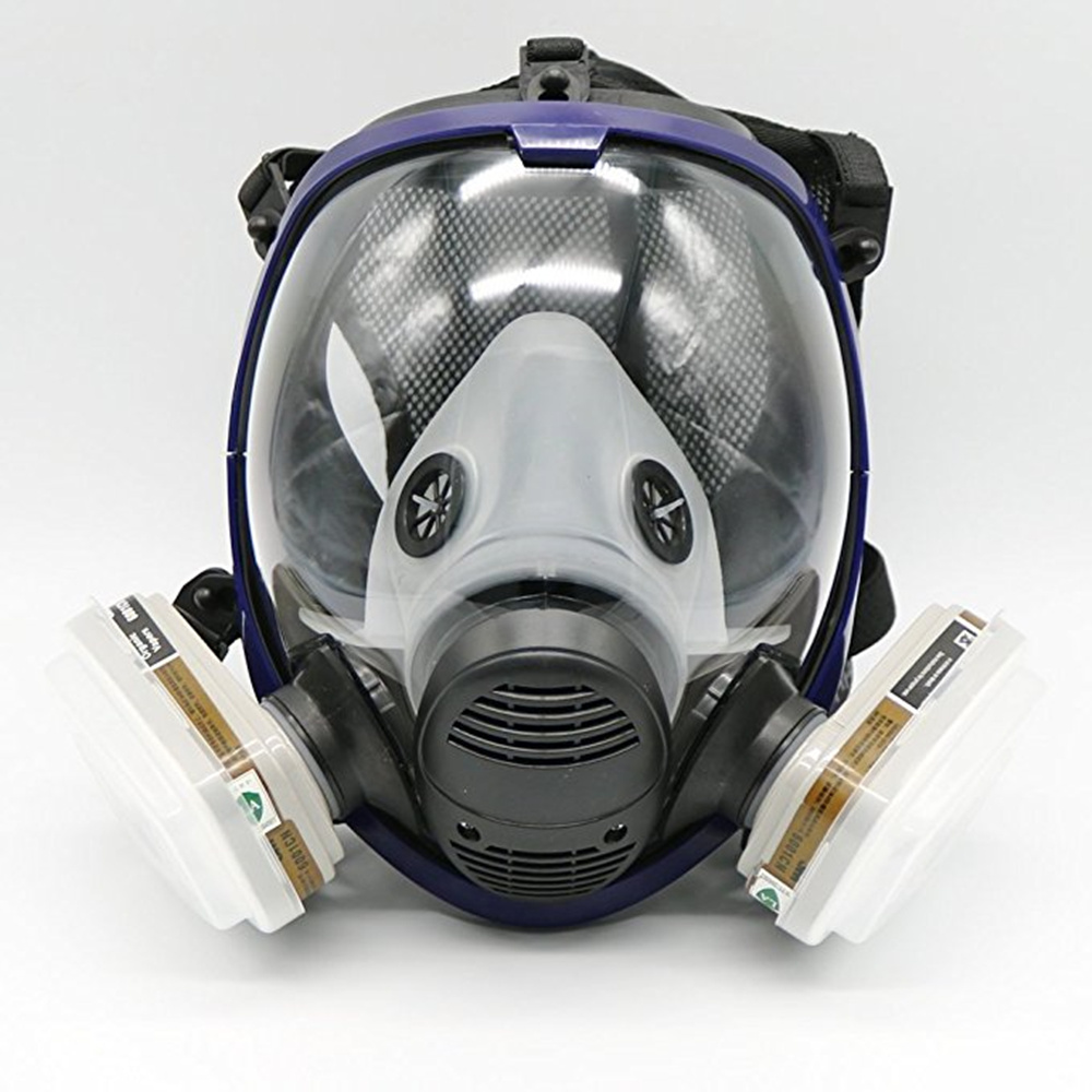 High Efficiency Protective Full Face Mask 7 Piece Suit Painting Spraying Similar For 6800 Gas Mask Full Facepiece Respirator 9 in 1 suit gas mask half face respirator painting spraying for 3 m 7502 n95 6001cn dust gas mask respirator