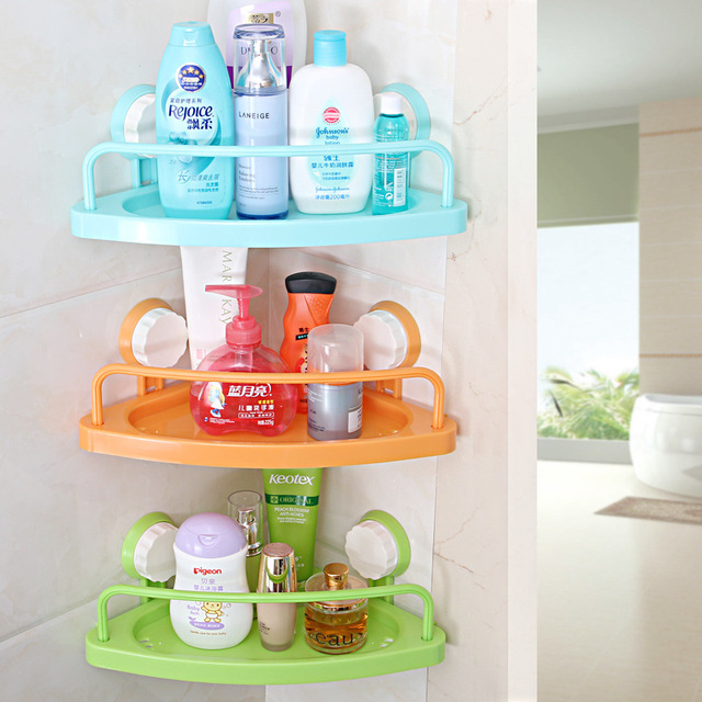 YIHONG Plastic Bath Corner Shelf Bathroom Triangle Towel Shelf Organizers  Conditioner Holder Corner Shampoo Storage Rack