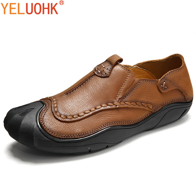 Genuine Leather Men Shoes Casual Moccasins Men Loafers High Quality Leather Shoes Men