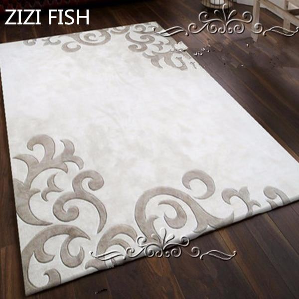 Dernière mode européenne tapis blanc gris le salon la chambre ...