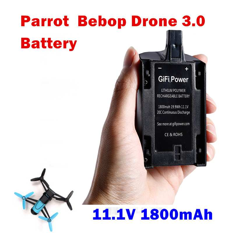 1pcs RC lipo Battery 11.1V 1800mAH Li-Po Powerful Battery for Parrot Bebop Drone 3.0 Helicopter Quadcopter Quality parrot bebop drone3 0 quadcopter helicopter 2500mah li po battery and 3 in 1 charger bebop drone 3 0 part free shiping
