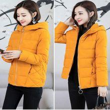 Winter Jacket Women Cotton Short Jacket 2019 New Padded Hooded Warm Parkas Coat Female Autumn Outerwear plus size S -6XL