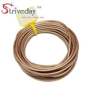 Image 2 - 50 metrów/partia 164ft RG316 brązowy kabel koncentryczny przewody RF 50 Ohm kabel ekranowany drut DIY