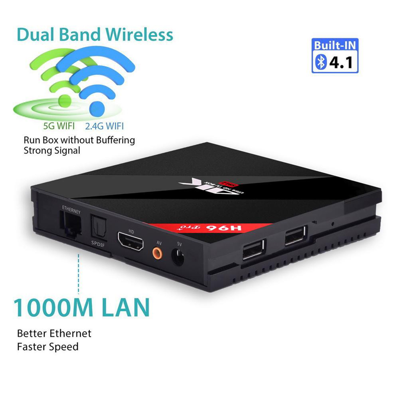Image 4 - Orignial H96 pro plus Smart Android 7.1 TV Box 2GB 3GB 16GB 32GB Amlogic S912 Octa Core 2.4G 5.8G WiFi H.265 4K IPTV Youtube-in Set-top Boxes from Consumer Electronics