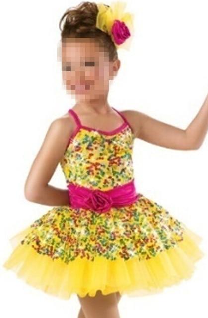 69e9358a1 Aliexpress.com   Buy Free Shipping Gold Tutu Dress Child Jazz Ballet ...