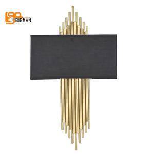 Image 5 - Hoge Kwaliteit Goud Wandlamp Moderne Zwart Wit Wandlampen Voor Home Decor
