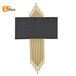 Image 5 - high quality gold wall lamp modern black white wall lights for home decor