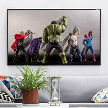 The Avengers USA movie Hulk in toilet Quotes Black White Poster Nordic Kids Room Wall Art Home Decor Canvas Painting cuadro(China)