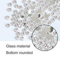 1440pc/bag Super Glitter Rhinestones Crystal Clear Non HotFix FlatBack Glass Nail Art Rhinestones Shiny Nail drill H0014